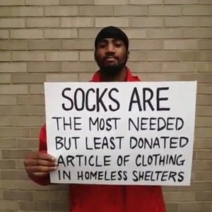 homeless socks